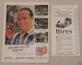 Vintage 2 Comedian Bob Hope Magazine Ad Hires Root Beer Bachelor In Paradise - $5.93