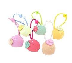 12 pieces Girls Hair Tie Headdress Hair Rings Hair Ropes Rubber Bands, Peach