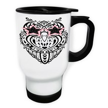 Owl Rock Star Pink Sunglasses White/Steel Travel 14oz Mug z700t - $336,95 MXN