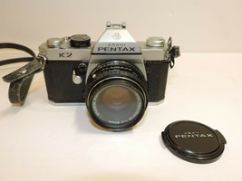 Asahi Pentax K2 35mm SLR Film Camera Silver Body Plus Original lens.  - $130.89
