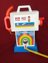 1983 Vintage FISHER PRICE GAS PUMP -  Wind Up Toy - Works! - $14.01