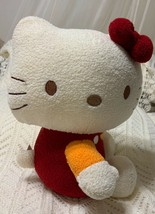 Hello Kitty By Sanrio Plush Side Sitting Red Outfit Red Bow Stuffed Anim... - $19.95