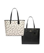 NWT COACH Reversible City Tote Crayon Hearts Love Valentine Black Pink 9... - $120.00