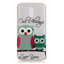 Soft IMD TPU Cover Shell for Motorola Moto G4 / G4 Plus - Two Owls - $1.89