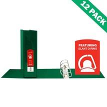 D-ring Binder, Office 2 Pockets Green School Binder 3 Inch - Case Of 12 - $107.49