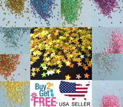 STAR Glitter⭐Multi Colors Nail Holographic Glitter Art Acrylic Gel Free shipping - $0.99+