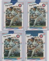 1988 Fleer Greg Maddux Cubs #423 Lot of 4 - $2.85