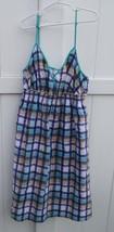 Aeropostale Dress Sz M Multi Striped Lined Adjustable Straps Elastic Wai... - $12.86