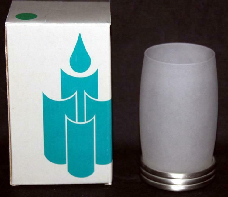 "2-Pc Partylite PARAGON Frosted White Tealight 4-3/4"" Holder NIB Retired - $12.99"