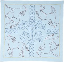 Sashiko World Russia Stamped Embroidery Kit-Galloping Horses - $19.99