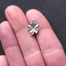 12 Four Leaf Clover Charms Antique Silver Tone for Pendant Bracelet DIY ... - $7.91