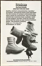 1977 Dunham Duraflex Leather Waterproof Boots Print Ad Great Outdoors Tu... - $7.82