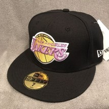Los Angeles LA Lakers Hat NEW ERA 7 Fitted NBA 59FIFTY Hardwood Classics... - $282,59 MXN