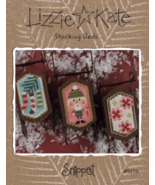 Stocking Sleds Snippet S134 christmas cross stitch chart Lizzie Kate  - $8.00