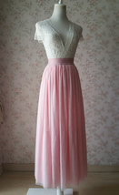 Floor Length Pink Tulle Skirt Pink Bridesmaid Tulle Skirt Plus Size image 2