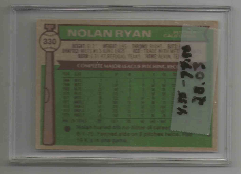 1976 Topps Nolan Ryan - Angels -  #330
