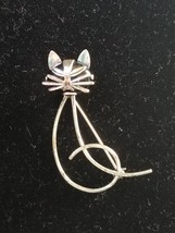 Beau Sterling 925 Sterling Silver Cat Pin Brooch Smug Face 4g - $34.65