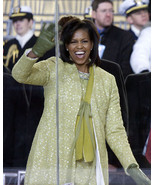 First Lady Michelle Obama waves at crowd 2009 Inaugural Parade Photo Print - $8.99