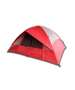 5 Person Camping Tent, Red/Gray or Blue/Gray - $129.56