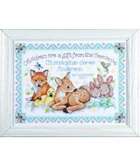 Design Works Crafts Counted Cross Stitch, Woodland Baby Sampler, 12 by 1... - $14.10