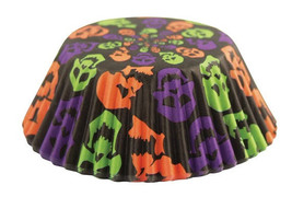Zombie colored skulls cupcake liners 50 pk baki... - $10.65