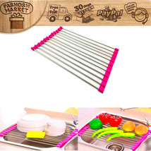 Kitchen Over the Sink Roll Up Drying Rack Drain... - $16.88