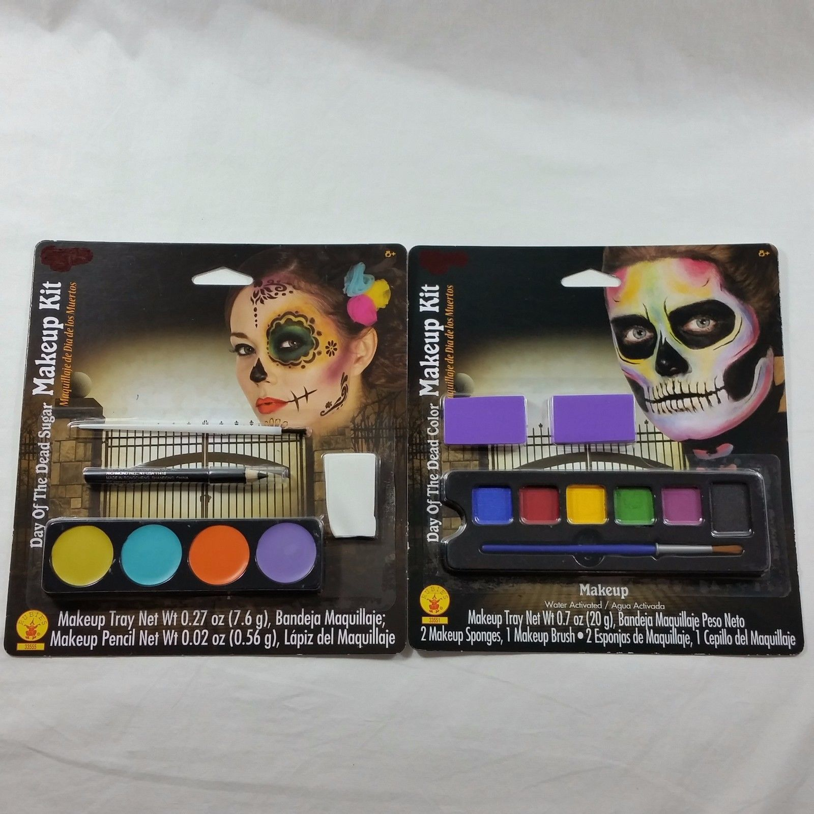 Day of the Dead Sugar Color Makeup Kit 2 Pack Halloween Costume Theater Dress Up