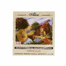 Backup Guitar Strings B-2nd Strings for Classical Guitars, 6 Pcs, Hard Tension