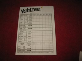 2004 Yahtzee Board Game Piece: Scorepad - 95% ful unused - $3.00