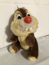 "Vtg Disneyland Disney World Chip N Dale Chipmunk Plush Stuffed Red Nose 9"" - $14.49"