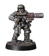 Spellcrow 28mm Miniatures Shock Troop w/Melting Gun