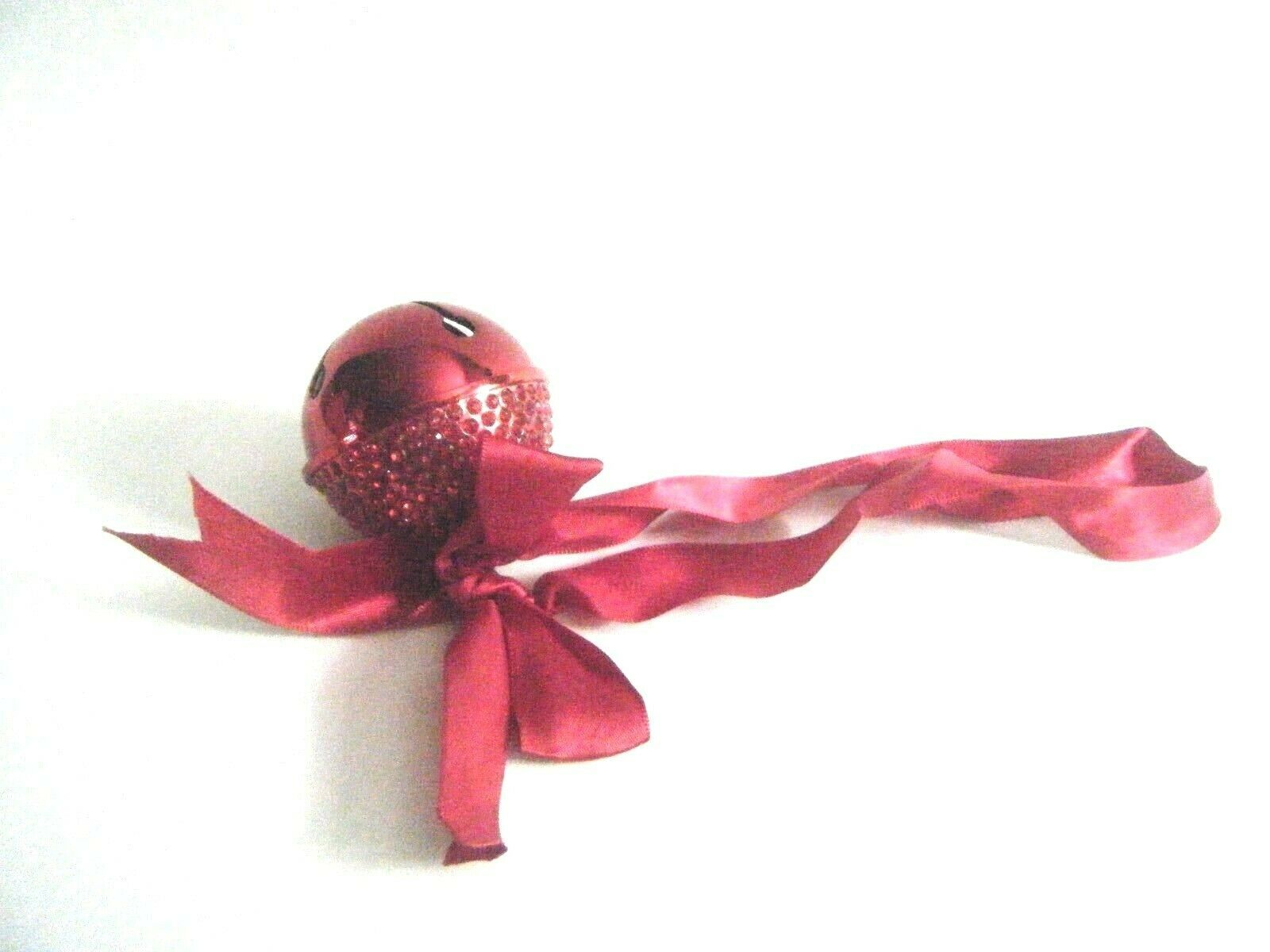 Red Jeweled Blingle Jingle Bell Christmas Ornament New In Gift Box