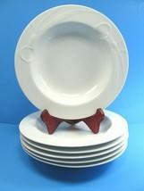 "6 Mikasa White Classic Flair Calla Lily 9"" Soup Bowl Bundle of 6 - $47.53"