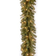 National Tree 9 Foot by 10 Inch Norwood Fir Garland with 50 Clear Lights NF-9ALO
