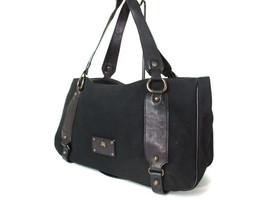 Authentic BURBERRY LONDON BLUE LABEL Canvas Leather Black Shoulder Bag B... - $149.00