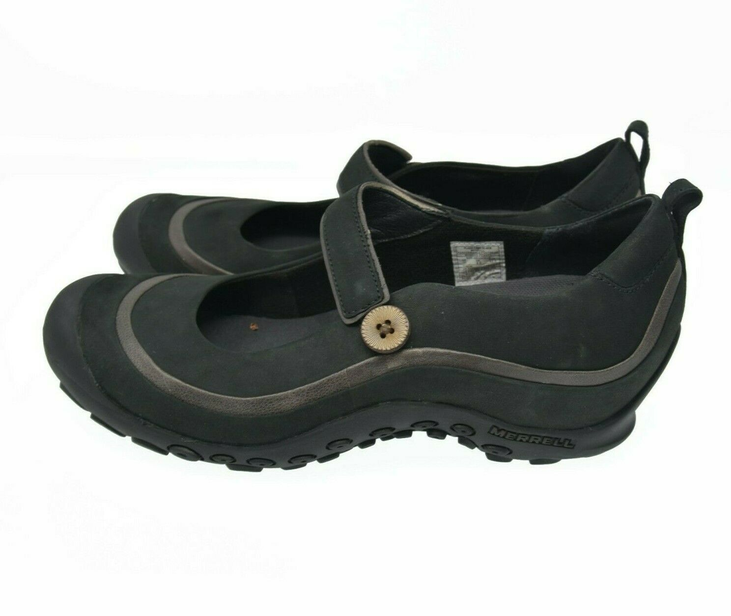 Merrell Women's Sz 11 EU 42.5 Suede Leather Button Strap Mary Jane Comfort Shoes