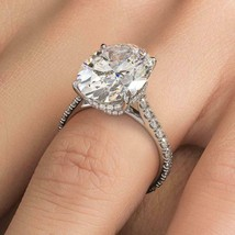 3.50Ct Cushion Cut Moissanite Solitaire Engagement Ring 18K White Gold F... - $125.99