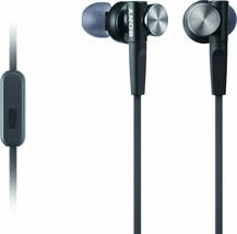 Sony MDR-XB50AP - Headphones Earbuds MDRXB50AP Black Extra Bass - New - $28.00