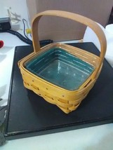 Longaberger Small Terragon Booking Basket with Plastic Protector - 2003 - $6.43