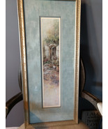 Vintage Lena Liu Signed Print Garden Table Run #299/2950 Matted and Framed - $35.00