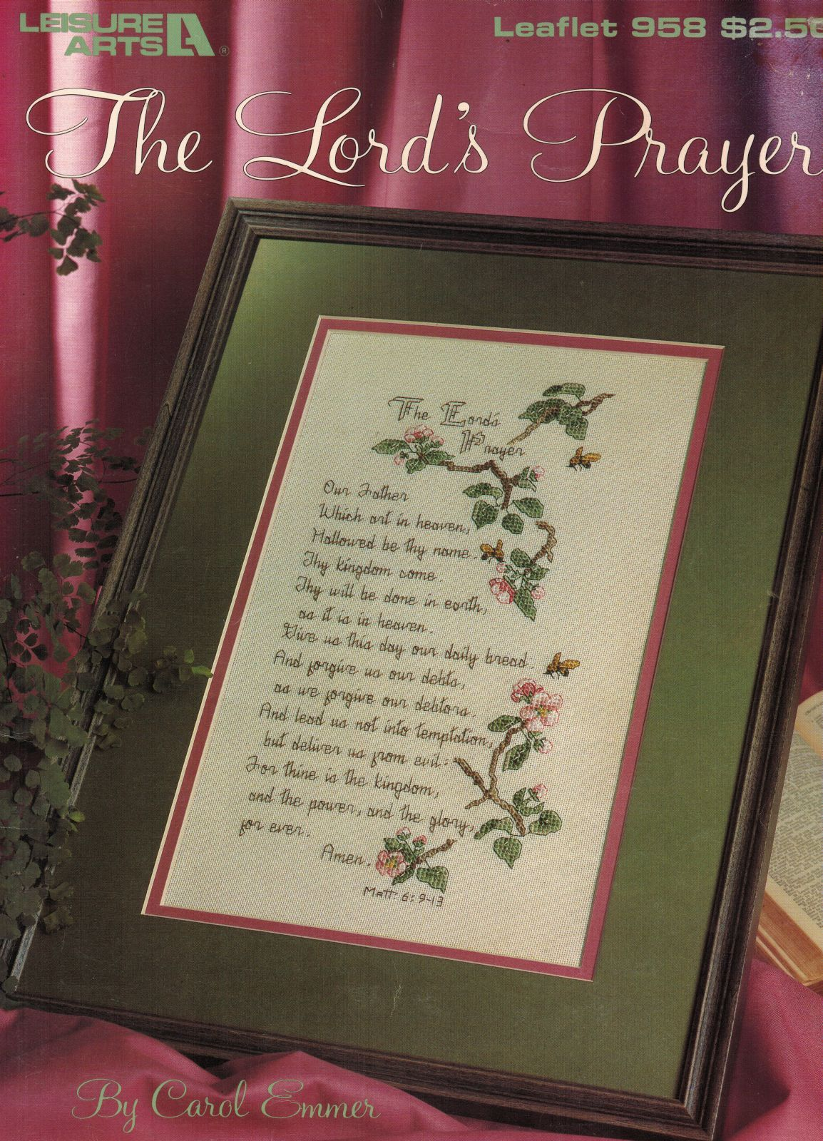 Counted Cross Stitch Inspirational Religious The Lord's Prayer Pattern