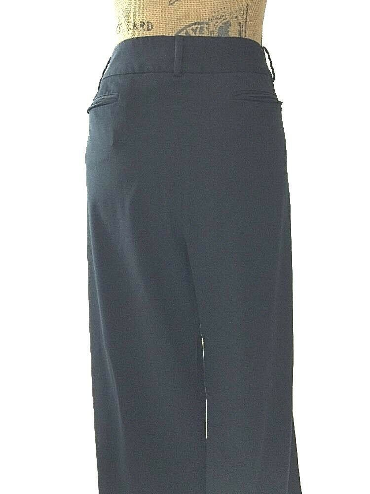 Ann Taylor LOFT 16 XL dress pants black Laura fit 4 pocket flat front work