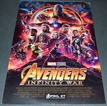 AVENGERS: INFINITY WAR 2018 ORIGINAL DOUBLE-SIDED ADVANCE 27x40 MOVIE PO... - $63.00