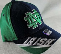 LZ Adidas Adult Fitted S/M Notre Dame Fighting Irish Baseball Hat Cap NEW D44 - $18.52