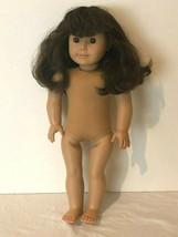 American Girl Pleasant Company Doll Brunette Dark Brown Hair Brown Eyes Nude - $44.99