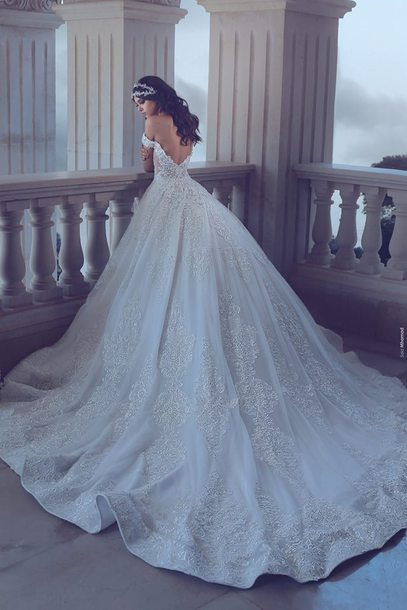 Ub8eh5 l 610x610 dress weisse brautkleider hochzeitskleider spitze linie brautkleider