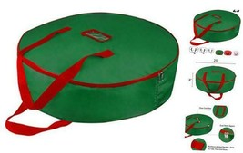 """Christmas Wreath Storage Bag 25"""" - Xmas Large Wreath Container - Reinfo... - $15.74"""