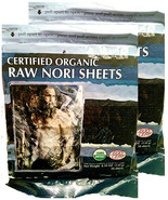 Raw Organic Nori 100 Sheets Pack Vegan Certified Kosher Sushi Wrap Papers - $43.55