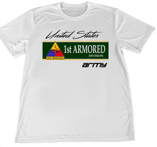 United States Army First Armored Wicking T-Shirt w Flag Car Coaster - $14.80+