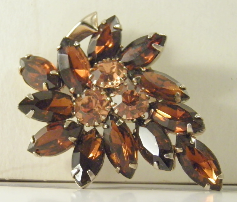 verified juliana madeira topaz honey root beer topaz rhinestone leaf brooch 2023